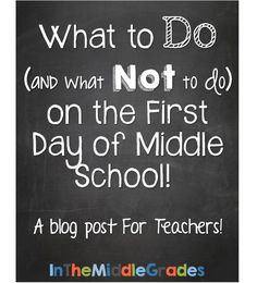 Whether you're a new teacher, new to middle school, or just pressing the reset button for the year, I hope you find some new and different things to think about.