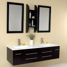 Fresca Bellezza Espresso 59-in. Modern Double Bathroom Vanity FVN6119UNS - FSCA087-10