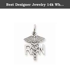 Best Designer Jewelry 14k White Gold Registered Nurse Charm. 14k White Gold Registered Nurse Charm Solid - Casted - Polished - 14K White gold - Not engraveable - Textured back Size: 0 Length: 25 Weight: 1.08 Jewelry item comes with a FREE gift box. Re-sized or altered items are not subject for a return. 14k White Gold Registered Nurse Charm Product Type:Jewelry Jewelry Type:Pendants & Charms Material: Primary:Gold Material: Primary - Color:White Material: Primary - Purity:14K Length:25 mm...