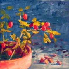 Rose Hips, painting by artist Liza Hirst