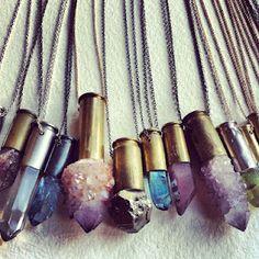 ☆ ☼ ☾ boho jewelry. crystal points ☽☼ ☆
