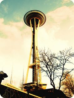 Seattle Space Needle  #seattle #space_needle #washington #architecture