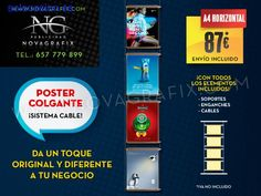 Poster led retroiluminado y carteles colgantes | Madrid | Madrid
