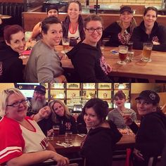 Celebratory Champs Dinner with @capitalcityrollers at Earl's at Bourbon Street in Edmonton  #fallbrawl3