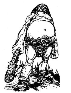 Dave Trampier's cloud giant from the AD&D Monster Manual