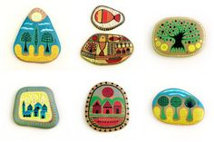 painting stones - Buscar con Google
