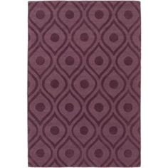 Artistic Weavers Central Park Zara Eggplant 9 ft. x 12 ft. Indoor Area Rug-AWHP4006-912 - The Home Depot