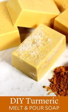 DIY Turmeric Melt & Pour Soap