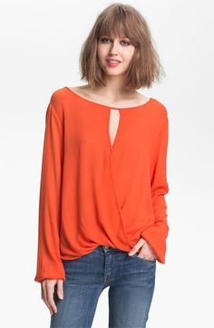 Ella Moss 'Stella' Keyhole Neck Surplice Top available at Nordstrom