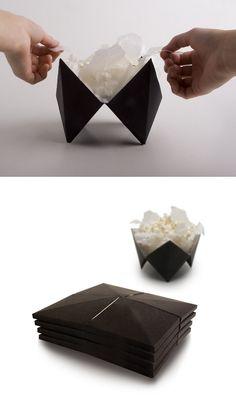 Microwave pop-up popcorn packaging by Anni Nykänen.