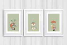 Nursery Wall Art, Animal Nursery Print, Unisex Nursery Prints, Nursery Prints, Set of Prints for Kids Room, Nursery Art, Wall Art Prints