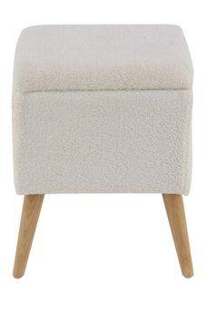 Astounding Uma White Faux Fur Storage Stool Storage Stool Leather Short Links Chair Design For Home Short Linksinfo