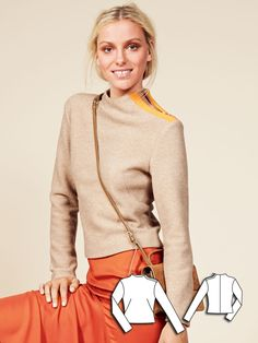 Crewneck Sweater 11/2015 #112 http://www.burdastyle.com/pattern_store/patterns/crewneck-sweater-112015?utm_source=burdastyle.com&utm_medium=referral&utm_campaign=bs-tta-bl-151109-CoolCamelCollection112