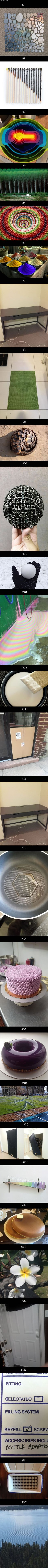 27 Oddly Satisfying Photos That Are Just Right - I love 27 and 21 the cakes are amaze
