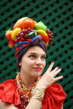 The idea of a fabulous headpiece was appealing to me this year, so I decided to pay homage to the legendary Carmen Miranda. Initially I wa...
