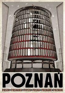 Poznań, polski plakat turystyczny