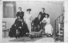 due fratelli e tre sorelle con i fidanzati - Primi anni del novecento ALCAMO Sicilia    #TuscanyAgriturismoGiratola