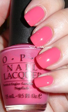 OPI: Feelin Hot Hot Hot- Love this color. A warm bright pink!