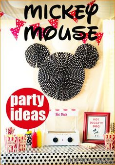 Mickey Mouse Clubhouse Party.  Creative Disney party decor, party games and Mickey Mouse cookies.