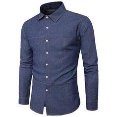 New Men Denim Shirts Long Sleeve Regular price $28.22 $19.75 Sale