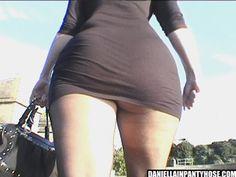 pantyhose ass in public - Daniella in pantyhose