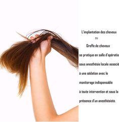 """#L'implantation des """"cheveux ou #greffe de cheveux."""