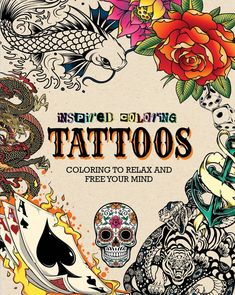 Tattoo Inspired Coloring Book