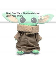 Plush Star Wars: The Mandalorian Baby Yoda Pillow Mandalorian, Plush, Star Wars, Pillows, Stars, Baby, Cushion, Sterne, Starwars