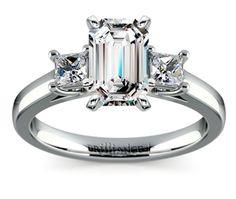 Emerald Princess Trellis Diamond Engagement Ring in White Gold http://www.brilliance.com/engagement-rings/princess-diamond-ring-white-gold