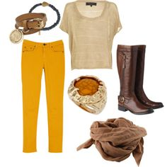 I wonder if I could pull off yellow pants