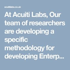 At Acuiti Labs, Our team of researchers are developing a specific methodology for developing Enterprise Applications and managing them through transformation processes using Acuiti-EUC Platform. Learn more about our services >> https://acuitilabs.co.uk/