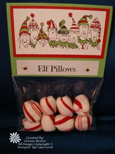 Elf Pillows, Reindeer Poop, Elf Kisses, and more cute ideas from Room Mom 101
