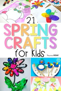 These 21 spring crafts for kids are fun and easy to make in the classroom or at home with simple materials! Create colorful arts & crafts of rainbows, butterflies, birds, flowers, and more to decorate this spring! Cute ideas for speech therapy! Spring Arts And Crafts, Spring Art Projects, Arts And Crafts For Adults, Arts And Crafts House, Easy Arts And Crafts, Crafts For Boys, Arts And Crafts Projects, Fun Crafts, Art For Kids
