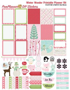 Winter Wonder Printable Planner Kit 2 PDFs by DigiScrapDelights