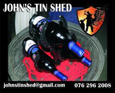 Wine Bottle Stand Tin Shed, Recycling, Wine, Bottle, Flask, Upcycle, Jars