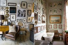 If you're still unsure about building your own art gallery wall, here are plenty more examples to help inspire you. Lots of you have been asking how I put the gallery wall together in my son's room. Decorating With Pictures, Decorating Your Home, Room Of One's Own, Pinterest Home, Cool Wall Art, Home Decor Inspiration, Frames On Wall, Living Spaces, Sweet Home