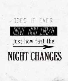 night changes- FOUR