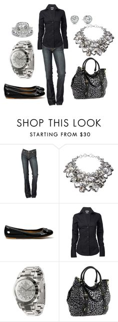 Simple Black by jnifr on Polyvore featuring Ben Sherman, 7 For All Mankind, Zara, Steve Madden, FOSSIL, HARRISON, Tacori, statement necklaces, ballet flats and leopard print