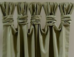 Good idea for curtains that are too long but you don't want to permanently shorten the hem.