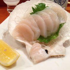 Scallop Sashimi in a Half Shell