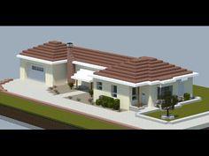 Minecraft: Simple House Tutorial - Part 2 Minecraft City, Minecraft Construction, Minecraft Buildings, Minecraft Tutorial, Simple House, Organize, Mansions, Create, House Styles
