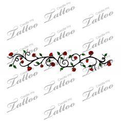 Marketplace Tattoo Rose vine tattoo #1080 | CreateMyTattoo.com