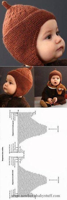 Baby Knitting Patterns El gorrito para el muchacho por los rayos, la elección de lo...