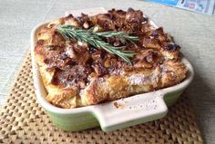 Try this luscious challah bread pudding with caramelized apples and hints of vanilla and cinnamon embedded throughout a rich custard. See more at http://jewishfoodexperience.com/top-10-recipes-high-holidays/