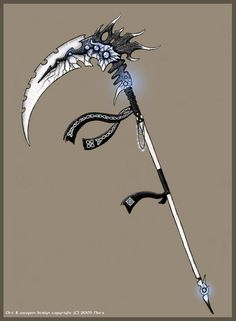 You were a Reaper since you were 12 yes 12 your reaper side is not ye… Fanfiction Image Digital, Jung So Min, Weapon Concept Art, Fantasy Weapons, Anime Weapons Scythe, Fantasy Sword, Knives And Swords, Anime Outfits, Looking Forward To Seeing