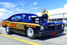 Joe Pappas, who helped build this car back in the 1970s, was on hand for its exhibition runs. A number of the original Motown/Mopar Missiles were on display..  2016-mopar-nationals-mopar-missile-joe-pappas