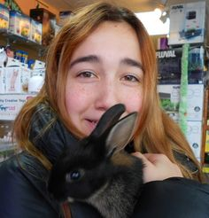 #WordlessWednesday — Yes, we've got bunnies at The Animal Store, like this cute one with Ilayda. #pets #animals