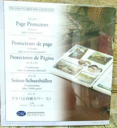 12x12 PAGE PROTECTORS original size 16 sheets Total NIP Creative Memories