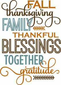 Silhouette Design Store: Thanksgiving Word List