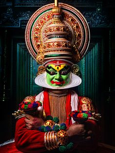 One of my favourite experiences in Kerala - the Kathakali Performance - we had front row seats